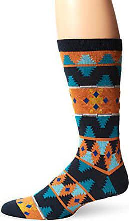 Ozone Mens Moroccan Waves Sock, Navy, Sock Size:10-13/Shoe Size: 6-12