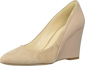 Nine West Womens DADAY Pump, Light Natural Suede, 5 M US