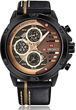 NAVIFORCE Relógio Masculino Naviforce NF9110 BRGBN - Marrom e Dourado