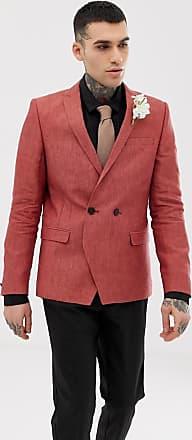 Twisted Tailor Blazer in lino ruggine-Marrone