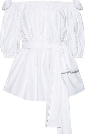 Stella McCartney Stella Mccartney Woman Michelle Off-the-shoulder Belted Cotton-poplin Blouse White Size 44