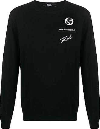 Karl Lagerfeld Suéter com patch de logo - Preto