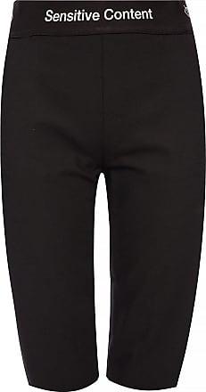 Palm Angels Printed Shorts Womens Black