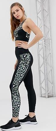 Wolf & Whistle Leggings kaki leopardati-Verde