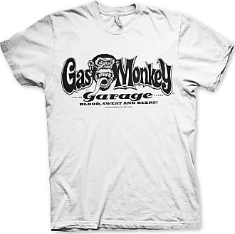 Gas Monkey Garage Officially Licensed Logo Mens T-Shirt (White), XX-Large