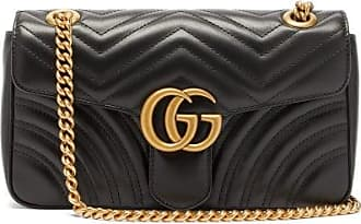 Gucci GG Marmont Small Quilted-leather Cross-body Bag - Womens - Black