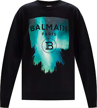 Balmain Logo Sweatshirt Mens Black
