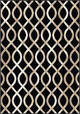 Orian Rugs Nuance Geo Loop Area Rug, 710 x 1010, Black