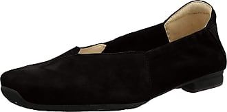 Think Womens Gaudi_484175 Ankle Strap Ballet Flats, (Schwarz 00), 4 UK
