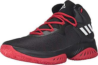 eb776b491e6e9 adidas Mens Explosive Bounce Basketball Shoes Black White Scarlet (5.5 M US)