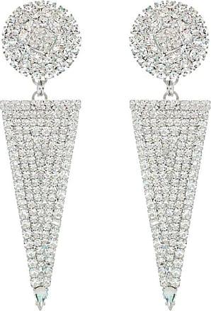 Alessandra Rich Embellished triangle earrings