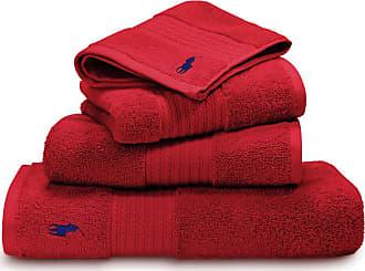Ralph Lauren Home Player Towel - Red Rose - Bath Towel