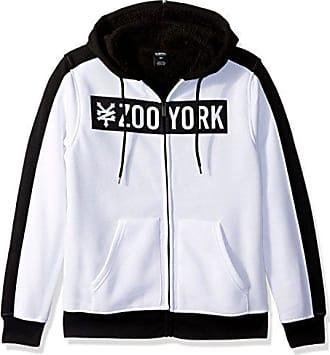 Zoo York Mens Long Sleeve Sherpa Hoodie, Straight Core White, M
