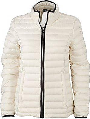 9cf9211d05a3e9 James & Nicholson Damen Jacke Jacke Ladies Quilted Jacket weiß  (Off-White/Black