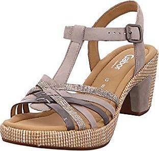f5f0ff3d0a1aaa Gabor 62-736 Schuhe Damen Lack Sandalen Plateau Sandaletten Weite G