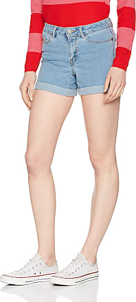 Noisy May Womens Nmbe Lucy Nw Den Fold Shorts Gu818 Noos, Blue (Light Blue Denim), 36 (Size: Small)