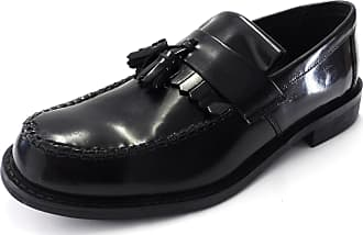 Roamers Mens Toggle Saddle Loafer - Black - Size UK 11