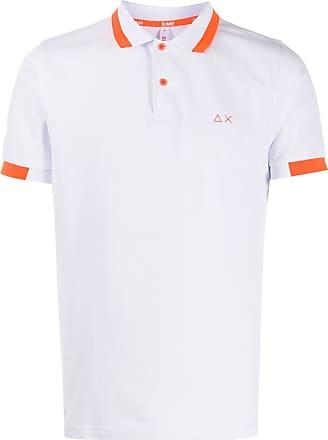 Sun 68 Poloshirt mit Logo-Stickerei - Weiß