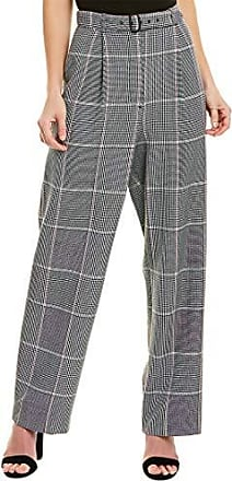 BCBGMAXAZRIA Womens Pleated Houndstooth Pant