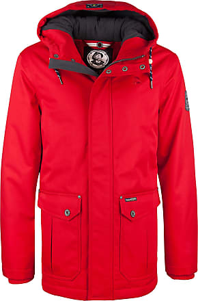 Rote winterjacke damen mit fell