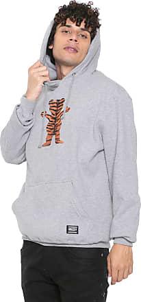 Grizzly Moletom Flanelado Fechado Grizzly Tiger Stripe Cinza