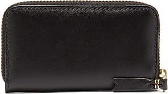 Comme Des Garçons Comme Des Garçons Wallet - Zip-around Leather Coin Purse - Mens - Black