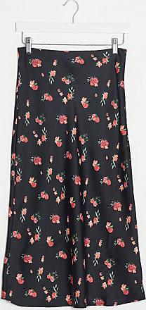 Pimkie floral midi skirt in black