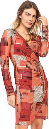 Morena Rosa Vestido Morena Rosa Curto Geométrica Caramelo/Marrom