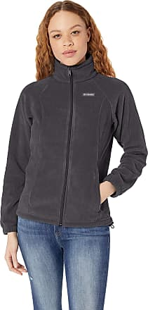 Columbia Womens Benton Springs Classic Fit Full Zip Soft Fleece Jacket, Charcoal Heather, X-Small