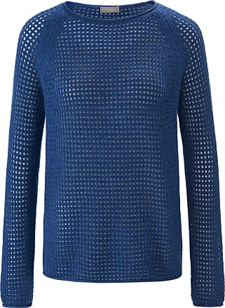 include Round neck jumper in 100% cashmere include blue