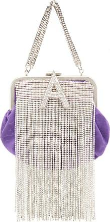 Attico Crystal-Embellished Mini Moiré Bag