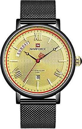 NAVIFORCE Relógio Masculino Casual Ultra Fino Naviforce Metálico Preto