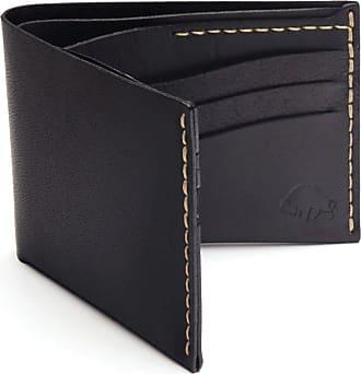 Ezra Arthur No. 8 Wallet   Jet Top Stitch