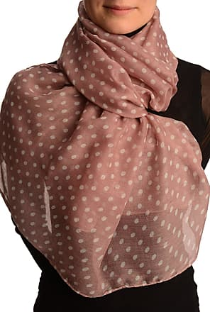 Liss Kiss White Polka Dot On Puce Pink Unisex Scarf - Pink Spotty Scarf