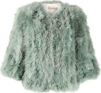 Yves Salomon cropped fur jacket - Green
