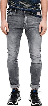 Q/S designed by Mens 44.899.71.3221 Slim Jeans, Grey (Denim Grey 95z4), W32 (Size: 32/32)