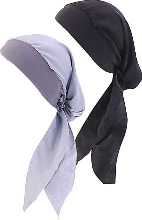 Zhhlaixing Chemo Turban for Cancer Women Silky Bonnet Braid Sleep Cap Hair Loss Headwear Head Scarf Sleep Hat Beanie Wide Band Headwrap 2 Pieces
