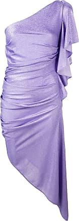 Just Cavalli Vestido assimétrico de um ombro só - Roxo