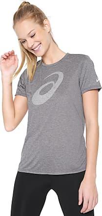 Asics Camiseta Asics W Running Pes Logo Ss Cinza