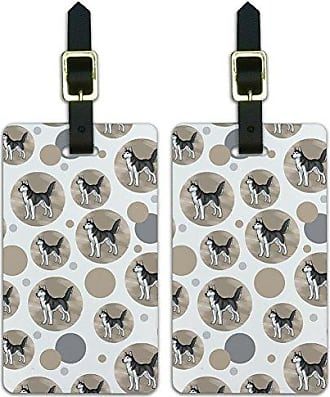 Graphics & More Graphics & More Luggage Suitcase Carry-on Id Tags-Dog Puppy-Siberian Husky, White