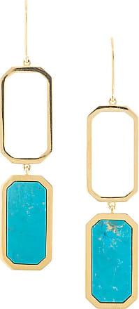 Julia Davidian Par de brincos abstratos - Dourado