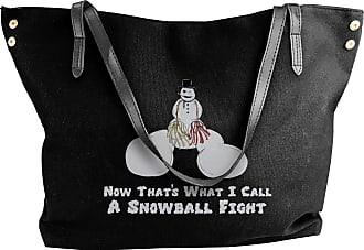Juju Snowball Fights Womens Classic Shoulder Portable Big Tote Handbag Work Canvas Bags