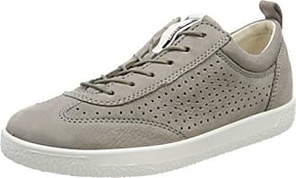 36198593659 Ecco Shoes Womens Soft 1 Lace Perf Fashion Sneakers, Warm Grey, 38 EU/