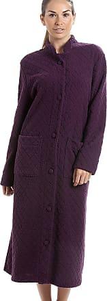 Camille Soft Fleece Full Length Button Up Housecoat 12/14 Purple