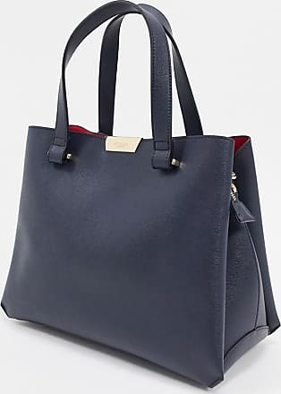 Dune London tiella unstructured tote bag-Navy
