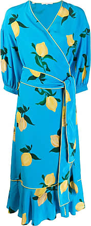 Chinti and Parker Vestido envelope floral - Azul