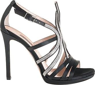 Albano sandalo raso e Swarosky cristal, 35 / nero