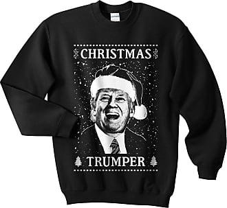 Sanfran Clothing Sanfran - Christmas Trumper Top Xmas Funny Donald Trump USA America Jumper Sweater - Extra Large/Black