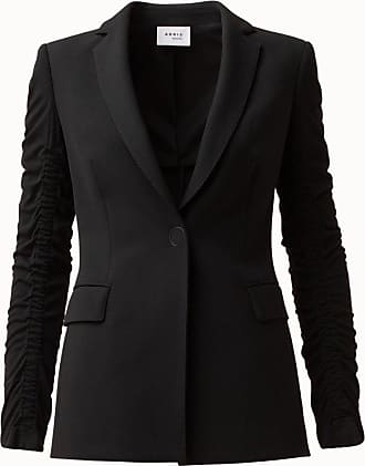 Akris Pebble Crepe Blazer with Front Button Closure