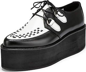 Undercover Womens Strummer Triple Sole Creeper Shoe Black/White UK 7/EU 40